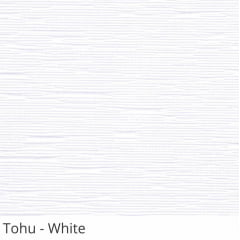 Cortina Rolô Branca Tecido Translúcido Coleção Tohu Cor White