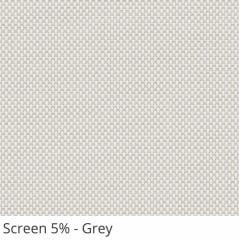 Cortina Rolô Cinza Tecido Tela Solar Coleção Screen 5% Cor Grey