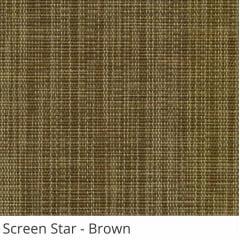 Cortina Romana Marrom Tecido Tela Solar Coleção Screen Star 5% Cor Brown