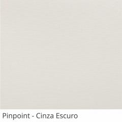 Cortina Romana Blackout Tecido Pinpoint Cinza Escuro
