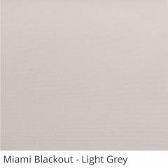 Cortina Romana Cinza Tecido Blackout Coleção Miami Cor Light Grey