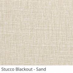 Cortina Romana Bege Tecido Blackout Coleção Stucco Cor Sand