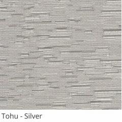 Cortina Romana Cinza Tecido Translúcido Coleção Tohu Cor Silver