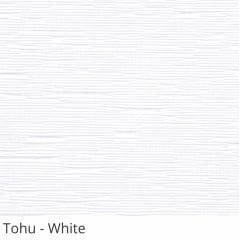 Cortina Romana Branca Tecido Translúcido Coleção Tohu Cor White