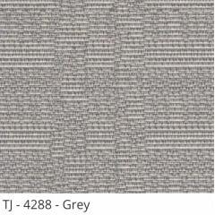 Cortina Romana Cinza Tecido Translúcido Coleção TJ 4288 Cor Grey