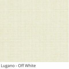 Cortina Romana Off White Tecido Translúcido Coleção Lugano Cor Off White