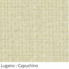 Cortina Romana Bege Tecido Translúcido Coleção Lugano Cor Capuchino