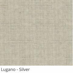 Cortina Romana Cinza Tecido Translúcido Coleção Lugano Cor Silver