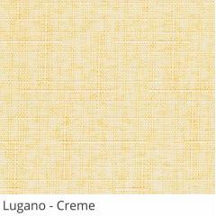 Cortina Romana Laranja Tecido Translúcido Coleção Lugano Cor Creme