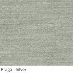 Cortina Romana Cinza Tecido Translúcido Coleção Praga Cor Silver