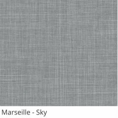 Cortina Romana Cinza Tecido Translúcido Coleção Marseille Cor Sky