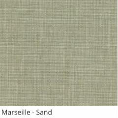 Cortina Romana Cinza Tecido Translúcido Coleção Marseille Cor Sand