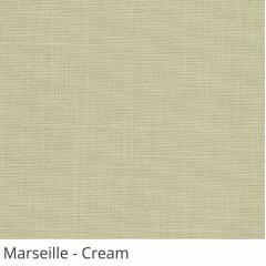 Cortina Romana Bege Tecido Translúcido Coleção Marseille Cor Cream