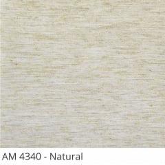 Cortina Painel Natural Tecido Blackout Coleção AM 4340 Cor Natural