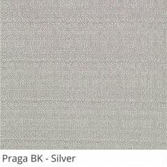 Cortina Painel Cinza Tecido Blackout Coleção Praga Cor Silver