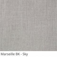Cortina Painel Cinza Tecido Blackout Coleção Marseille Cor Sky