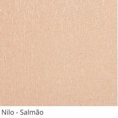 Cortina Painel Rosa Tecido Translúcido Coleção Nilo Cor Salmão