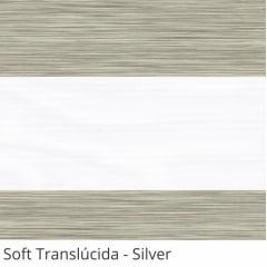 Cortina Rolô Double Vision Cinza Tecido Translúcido Coleção Soft Cor Silver