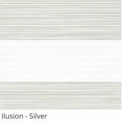 Cortina Rolô Double Vision Cinza Tecido Translúcido Coleção Ilusion Cor Silver