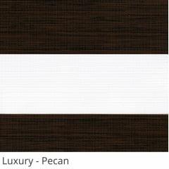 Cortina Rolô Double Vision Marrom Tecido Translúcido Coleção Luxury Cor Pecan