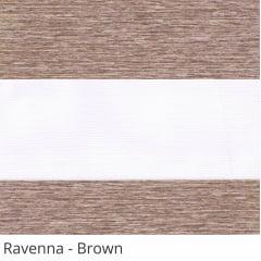 Cortina Rolô Double Vision Marrom Tecido Translúcido Coleção Ravenna Cor Brown