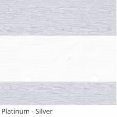Cortina Rolô Double Vision Cinza Tecido Translúcido Coleção Platinum Cor Silver