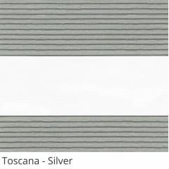 Cortina Rolô Double Vision Cinza Tecido Translúcido Coleção Toscana Cor Silver
