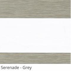 Cortina Rolô Double Vision Cinza Tecido Translúcido Coleção Serenade Cor Grey