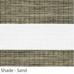 Cortina Rolô Double Vision Cinza Tecido Translúcido Coleção Shade Cor Sand