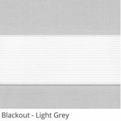 Cortina Rolô Double Vision Cinza Tecido Semi Blackout Cor Light Grey