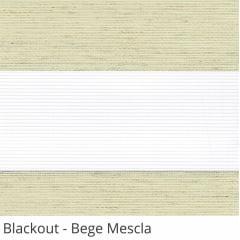 Cortina Rolô Double Vision Bege Tecido Semi Blackout Cor Bege Mescla