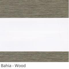 Cortina Rolô Double Vision Marrom Tecido Semi Blackout Coleção Bahia Cor Wood