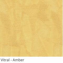 Persiana Vertical Amarela Tecido Translúcido Coleção Vitral Cor Amber