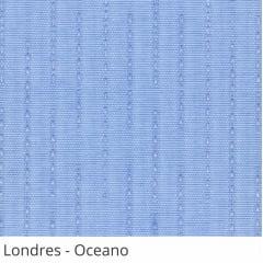 Persiana Vertical Azul Claro Tecido Translúcido Coleção Londres Cor Oceano