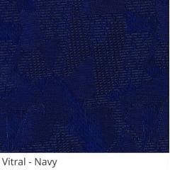 Persiana Vertical Azul Escuro Tecido Translúcido Coleção Vitral Cor Navy