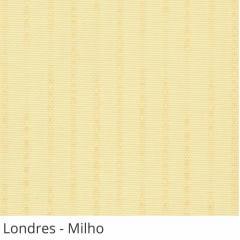 Persiana Vertical Bege Tecido Translúcido Coleção Londres Cor Milho