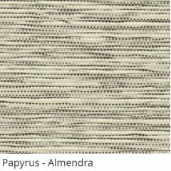 Persiana Vertical Bege Tecido Translúcido Coleção Papyrus Cor Almendra