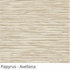 Persiana Vertical Bege Tecido Translúcido Coleção Papyrus Cor Avellana
