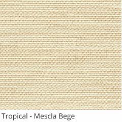 Persiana Vertical Bege Tecido Translúcido Coleção Tropical Cor Mescla Bege