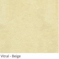 Persiana Vertical Bege Tecido Translúcido Coleção Vitral Cor Beige