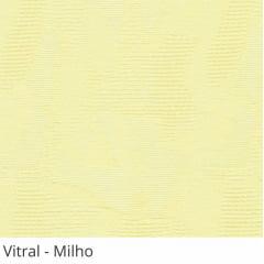 Persiana Vertical Bege Tecido Translúcido Coleção Vitral Cor Milho