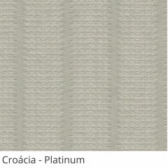 Persiana Vertical Cinza Tecido Translúcido Coleção Croácia Cor Platinum