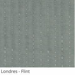 Persiana Vertical Cinza Tecido Translúcido Coleção Londres Cor Flint