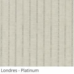 Persiana Vertical Cinza Tecido Translúcido Coleção Londres Cor Platinum
