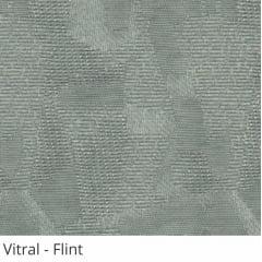 Persiana Vertical Cinza Tecido Translúcido Coleção Vitral Cor Flint