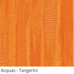 Persiana Vertical Laranja Tecido Translúcido Coleção Acquas Cor Tangerini
