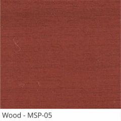 Persiana Horizontal Madeira Coleção Sintética 50mm Com Pintura Especial Wood Cor MSP-05