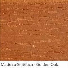 Persiana Horizontal Madeira Coleção Sintética 50mm com Ranhuras Cor Golden Oak