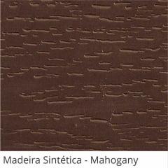 Persiana Horizontal 50mm Madeira Sintética com Ranhuras Mahogany