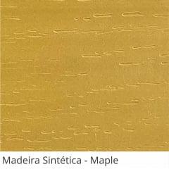 Persiana Horizontal Madeira Coleção Sintética 50mm Com Ranhuras Cor Maple